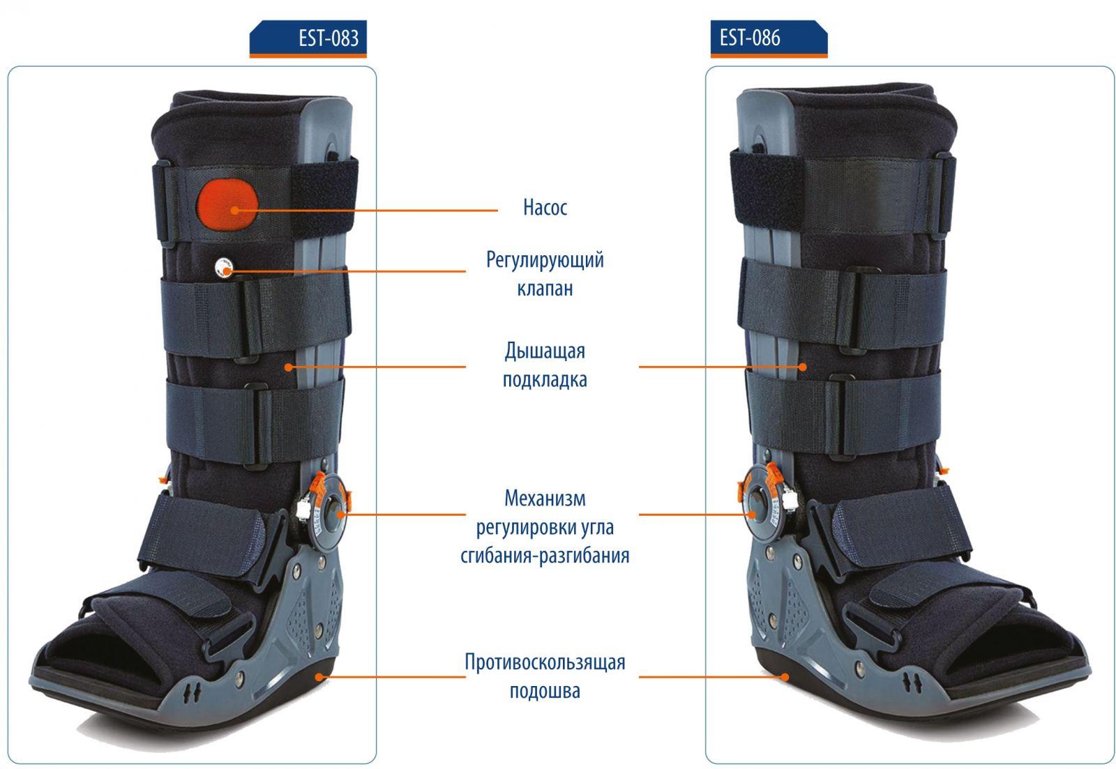 EST-083/2 Ортез на голеностопный сустав-стопу Аир Волкер (p.M) (EST-083/2)